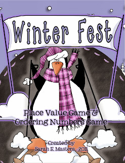 http://www.teacherspayteachers.com/Product/Winter-Fest-Penguin-Place-Value-Ordering-Numbers-Math-Center-172303
