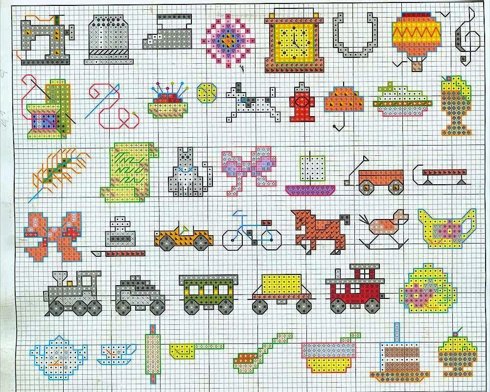 Grande raccolta di Schemi e grafici per Punto croce free: Raccolta di mini-schemi a punto croce