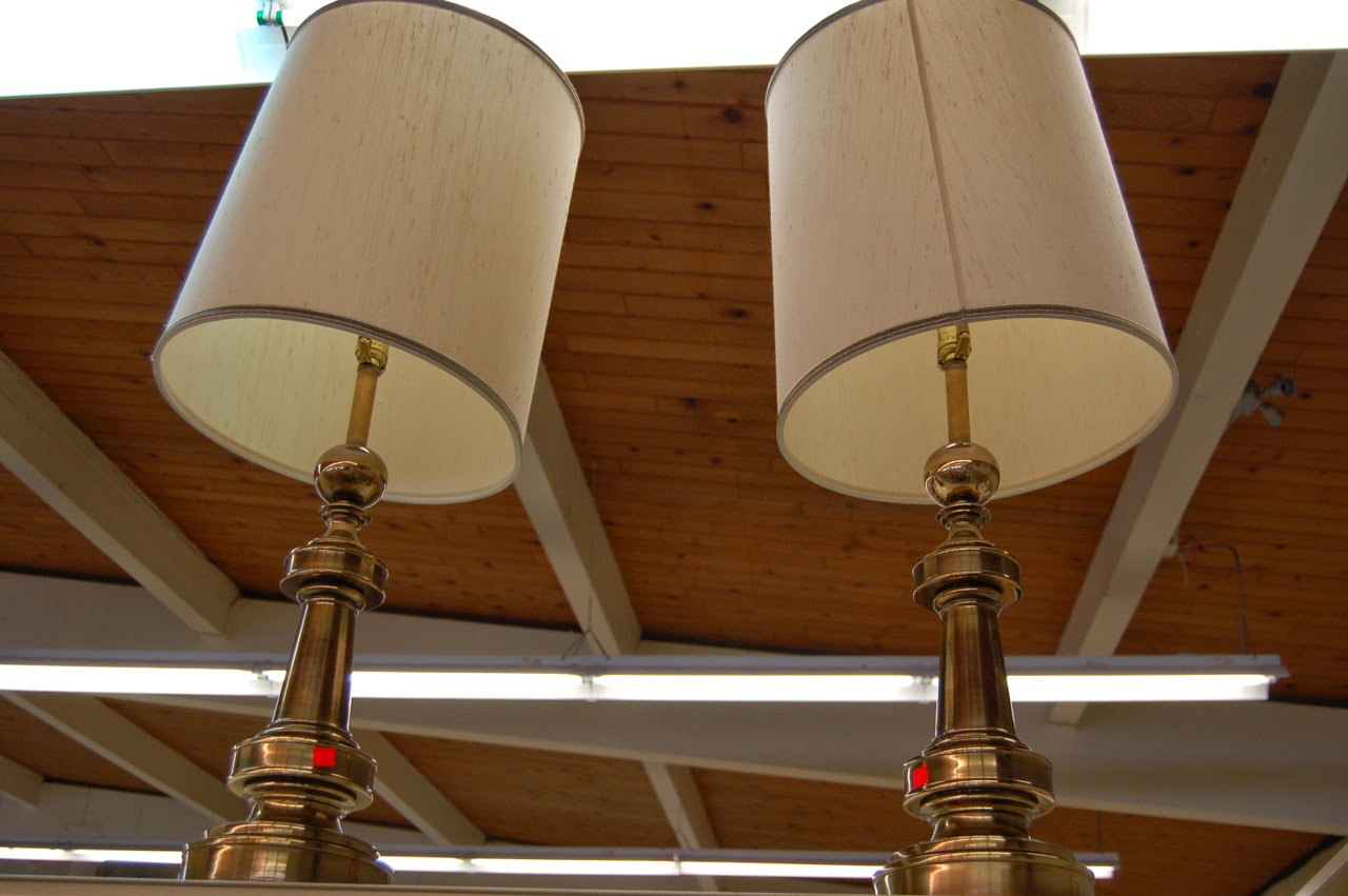 Secondhand goods field trip teen challenge thrift store pair of vintage brass stiffel table lamps with original shades teen challenge thrift store aloadofball Images