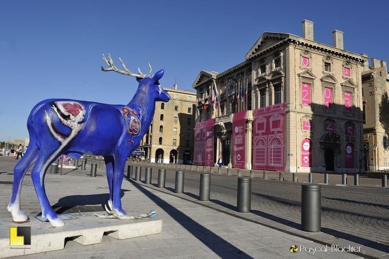 La mairie de Marseille parée de ses apparats de Marseille 2013 photo blachier pascal