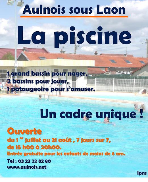 La piscine d 39 aulnois sous laon la saison 2012 d bute dimanche for Piscine de laon
