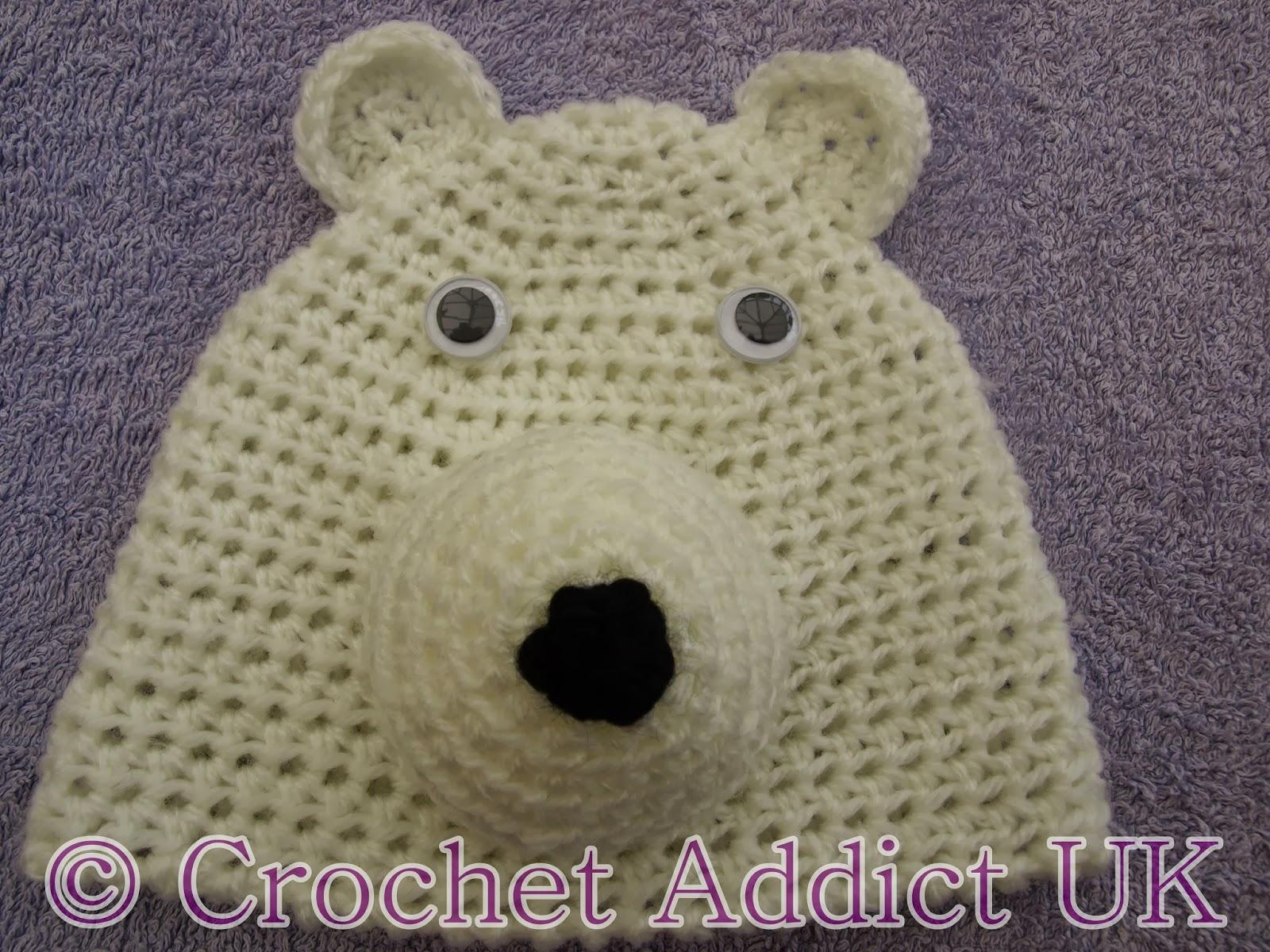 Free crochet pattern for polar bear manet for polar bear beanie hat newborn 12 months free free crochet pattern bankloansurffo Choice Image