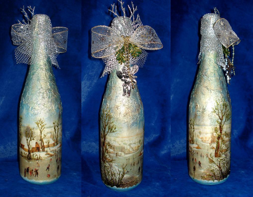 Бутылка из под шампанского своими руками