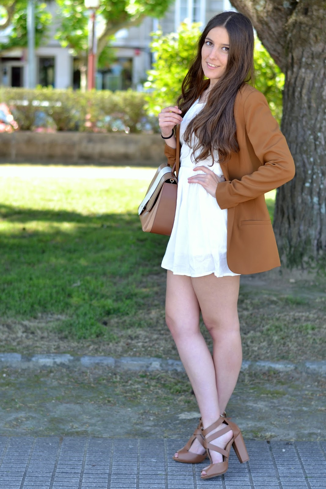 outfis white and camel