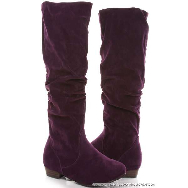 Suede Boots Purple6