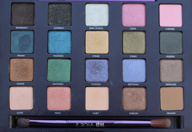 All the UD Vice 2 eye shadows
