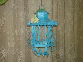 """Turquoise Metal """"Lantern"""""""