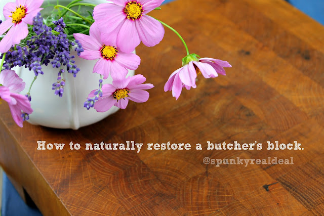 How to naturally restore a butcher's block