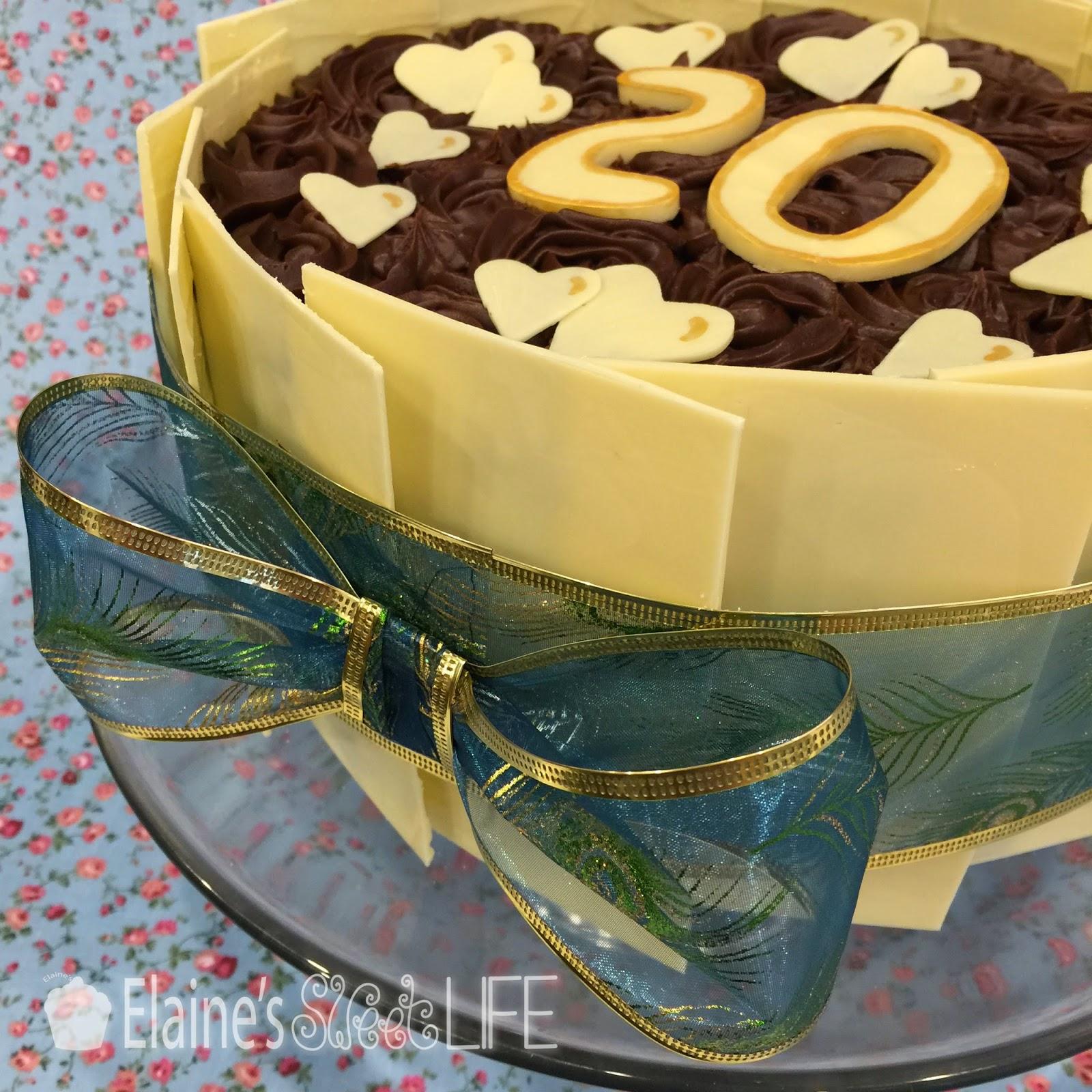 Elaine\'s Sweet Life: Tempered White Chocolate Anniversary Cake ...