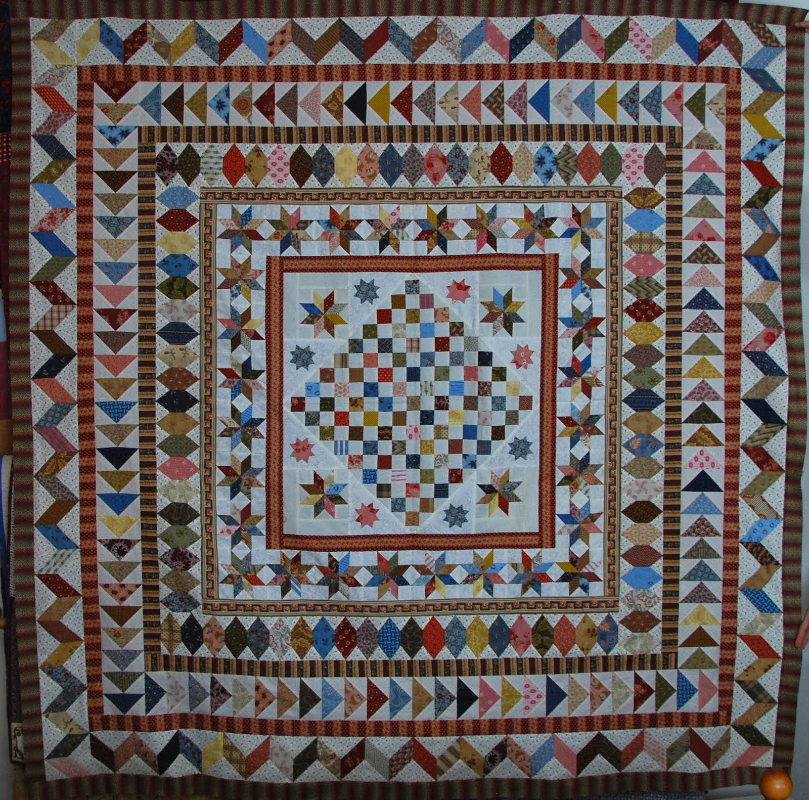 Mijn Antieke quilt (patroon Guute)