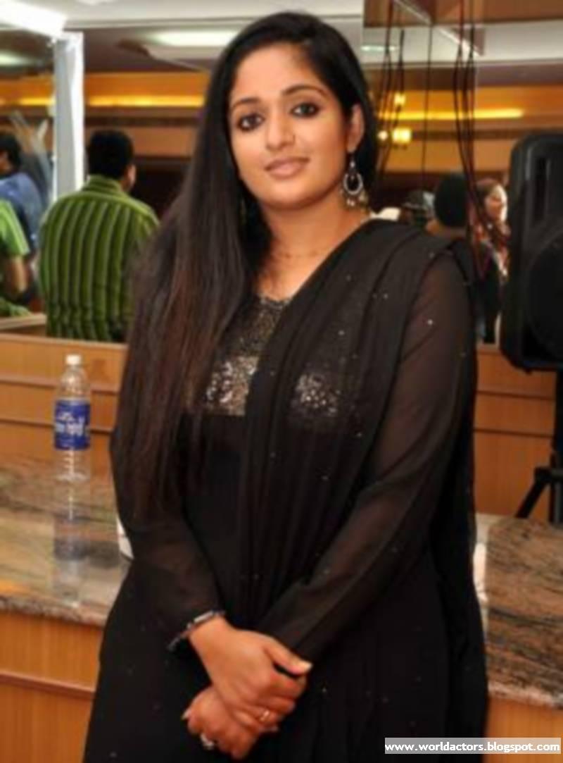 Kavya Madhavan in Black Saree Celebrity Kavya Madhavan Saree