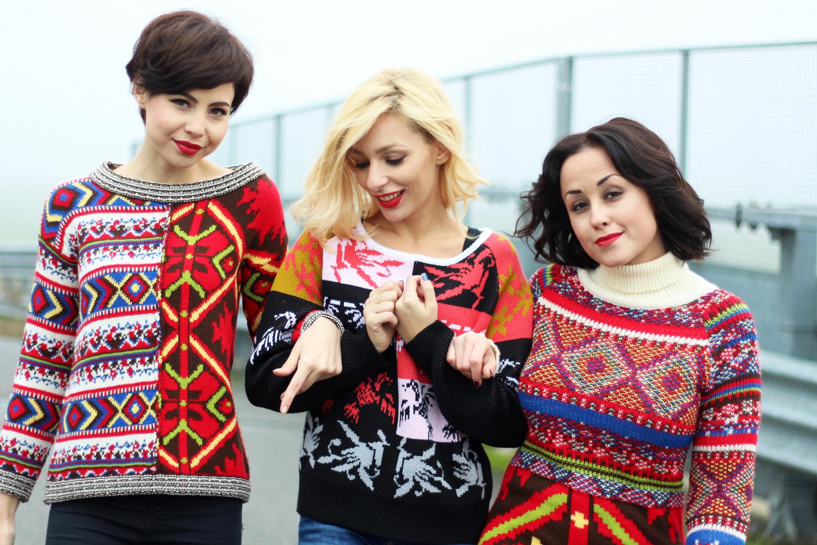 Desigual , Xmas outfit , friendship , Jessica Neumann , Juliane Borges , model