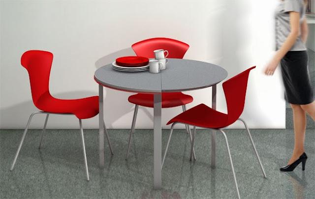 Cafran cocinas pilot de cancio una idea redonda para los - Mesas para espacios pequenos ...