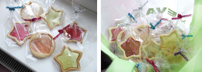 Stained glass cookies, candy cookies, cookie favours