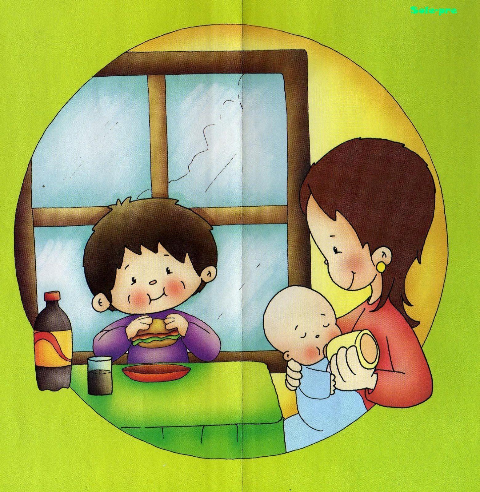 Menta m s chocolate recursos y actividades para educaci n infantil dibujos de los derechos de - Agencias para tener estudiantes en casa ...