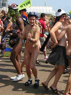 naturist, nudist, naked events, naked bike ride, bike ride, WNBR, naked man, naked boy