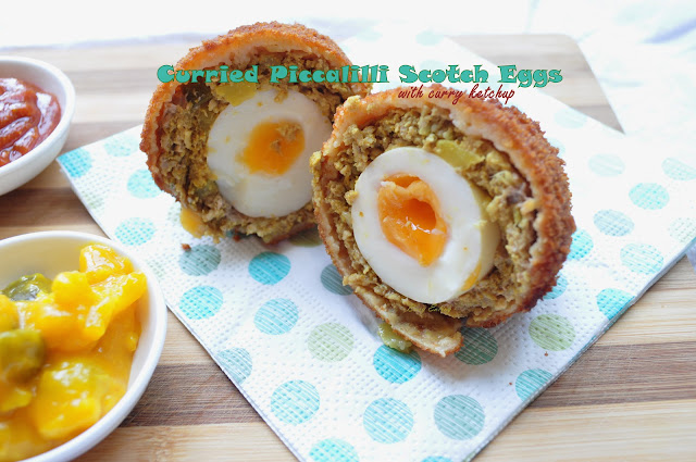 Curried Piccalilli Scotch Eggs