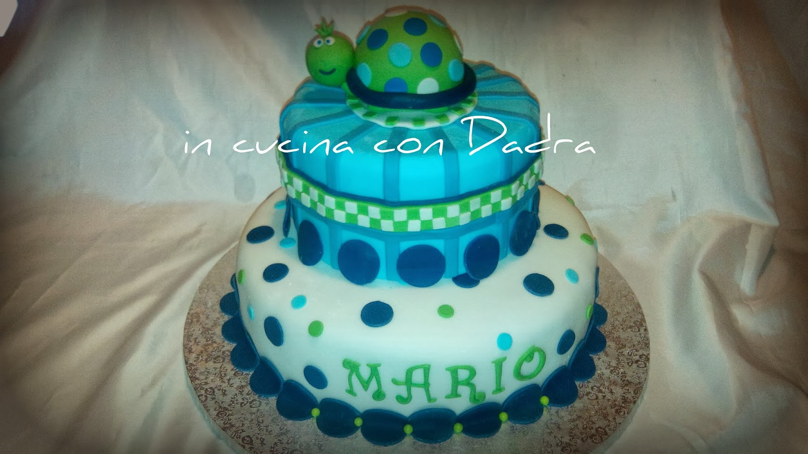 il primo compleanno di mario... festa a tema e (s)torta... pure ;-)!