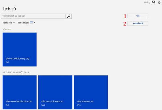 Cách xóa lịch sử tìm kiếm trên Bing 5