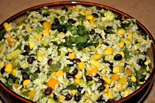 Салат на рисовой основе