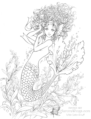 Girl Mermaid Coloring Pages