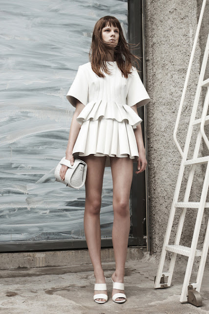 Alexander Wang, Resort 2013 - white suit of armor with nipples
