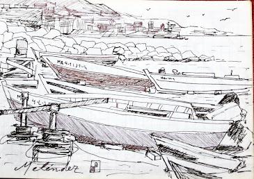 Las barcas en la playa