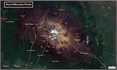 (Tanzania) - Mount Kilimanjaro Routes