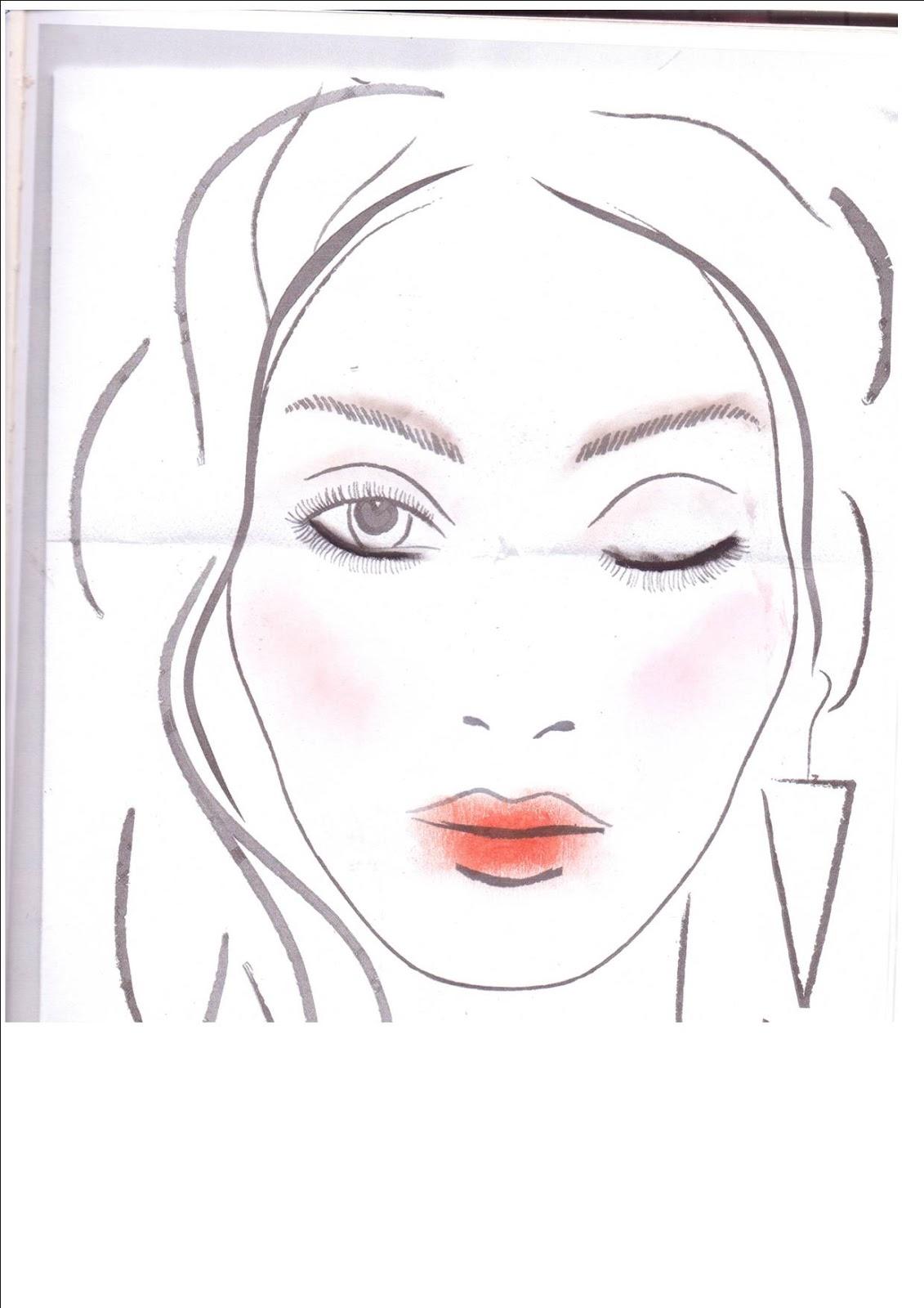 Face Template For Makeup | New Calendar Template Site