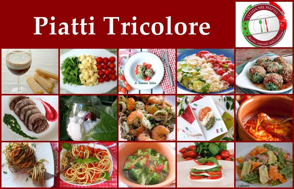 L 39 italia nel piatto piatti tricolore for Piatti roma