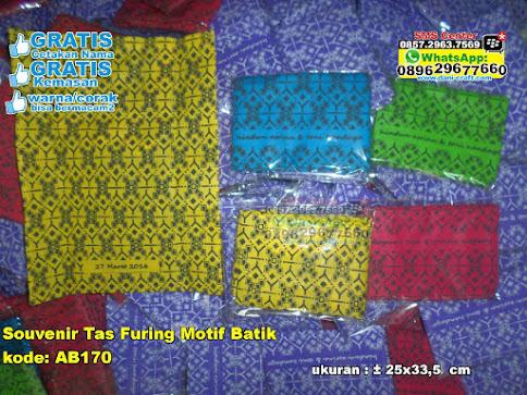 Souvenir Tas Furing Motif Batik jual
