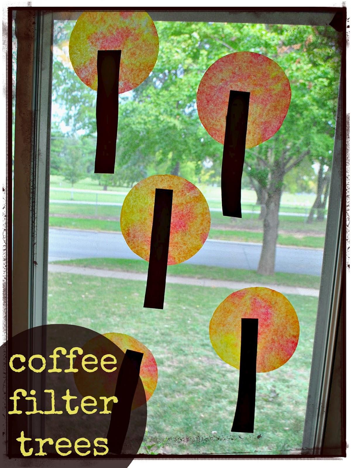 The Iowa Farmer's Wife Coffee Filter Fall Trees
