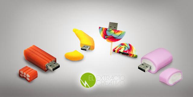 El Extracto Creativo, crea -  USB con forma de chuche