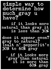 How To Determine What Percentage of Gray You Have?