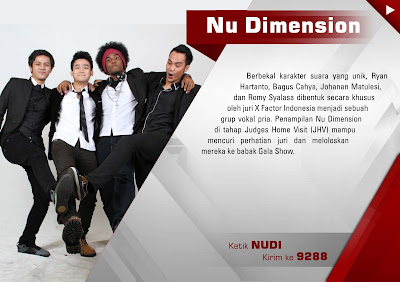 NU+DIMENSION Profil Biodata NU Dimension X Factor Indonesia