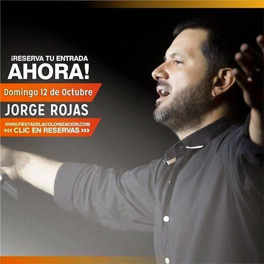 Reservas de plateas Domingo 12 de Octubre de 2014 Jorge Rojas Fiesta Nacional de la Colonizacion