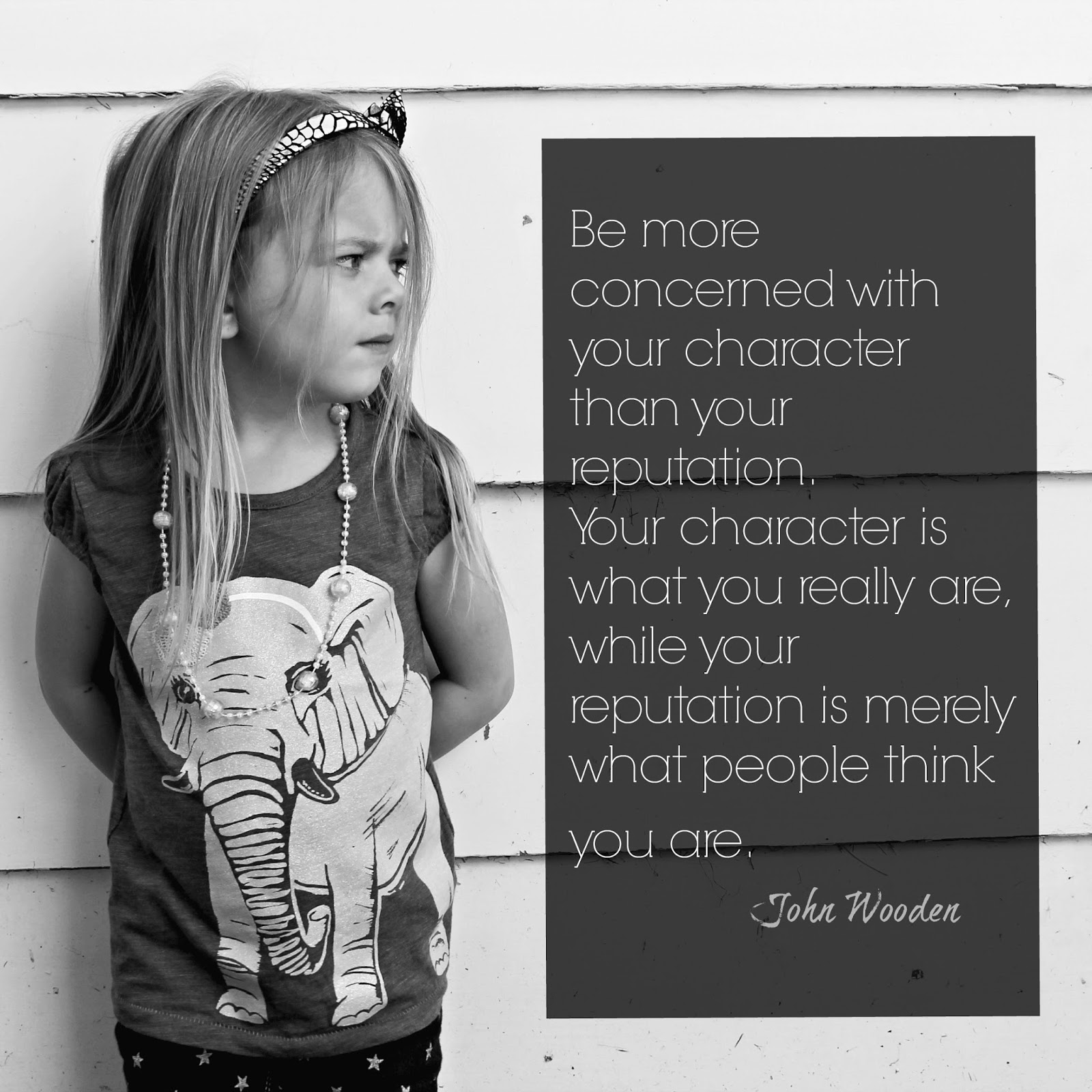 character over reputation Character over reputation quotes - 1 i would rather be known in life as a honest sinner than as a lying hypocrite read more quotes and sayings about character over reputation.