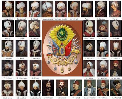 Osmanli Padisahlari siralamasi
