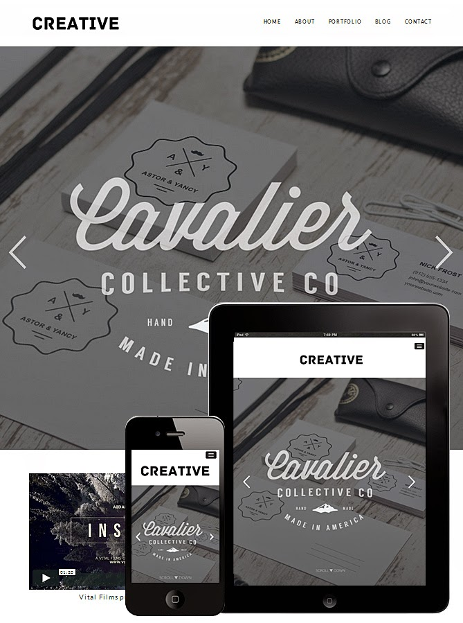 Download Creative - Free Wordpress Responsive Portfolio Theme 2015