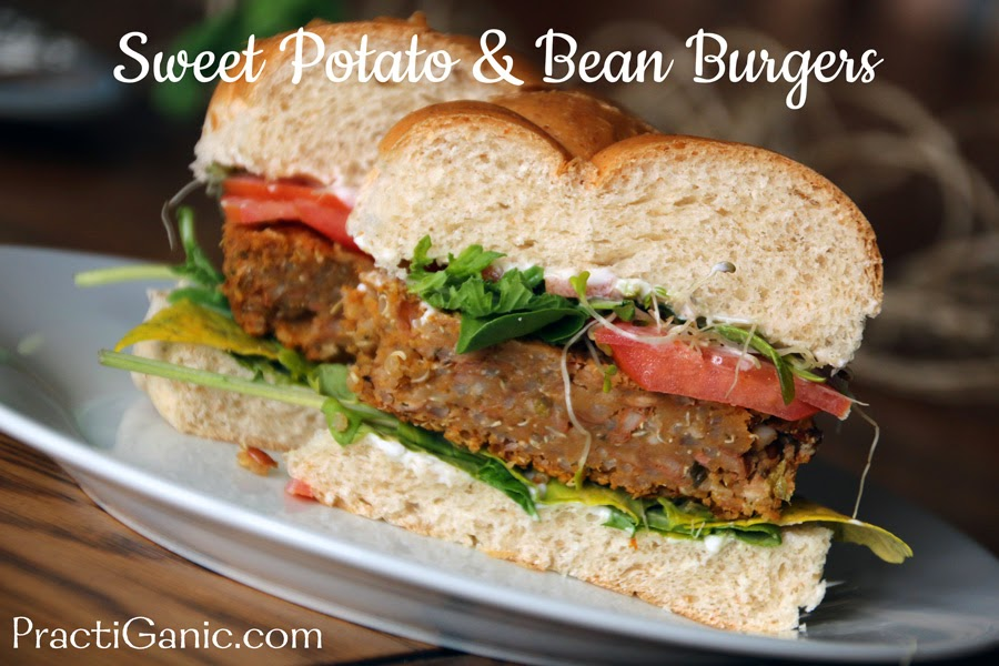 Vegan Sweet Potato & Bean Burge