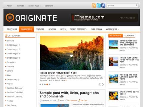 Originate Free WordPress Theme