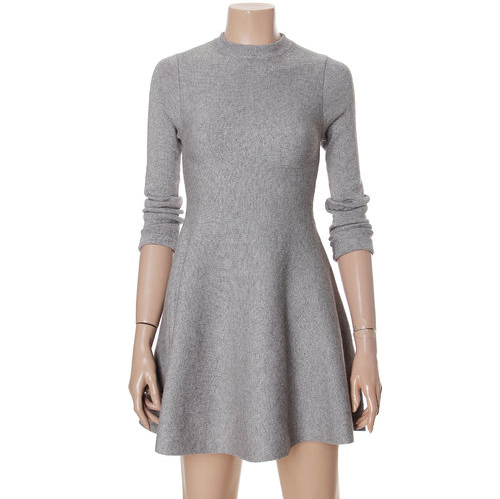 Pitaen Flare Tight Knit Dress