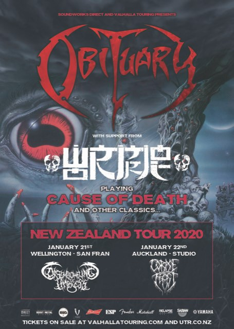 Obituary & Wormrot NZ Tour