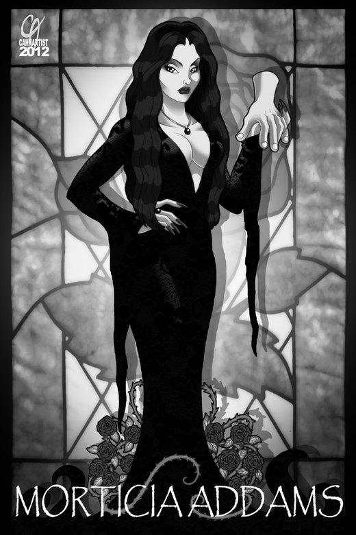 Morticia Addams por Cahnartist