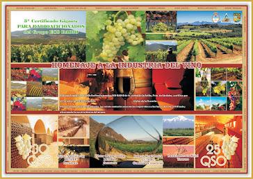 Certificado Homenaje a la Industria del Vino