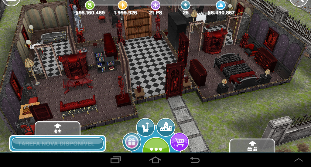The sims freeplay casa assombrada for Casa de diseno the sims freeplay