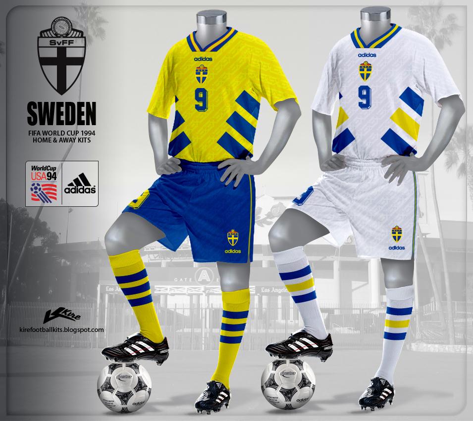 Kire Football Kits Sweden Kits World Cup 1994