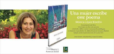 Playa de Ákaba, libros, Mónica López Bordón, poesía, Una mujer escribe este poema