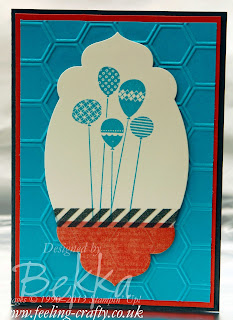 Bright Balloon Patterned Party Card by UK Stampin' Up! Demonstrator Bekka Prideaux - check out her blog for lots of great ideas