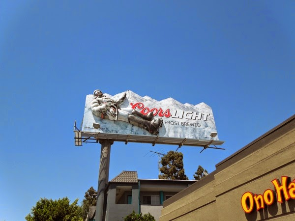 3D Coors Light mountain climber billboard L.A.